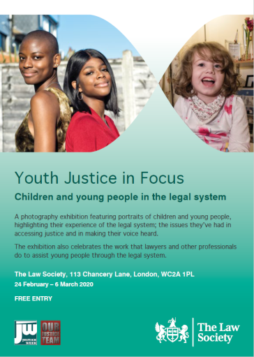 Youth Justice in Focus exhibition